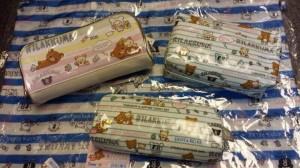 鬆弛熊3月新貨北極篇,各款筆袋。