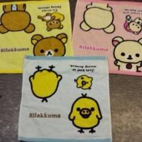 鬆弛熊4月新貨—方型毛巾,全3款。