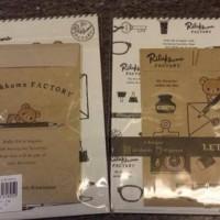 鬆弛熊4月新貨—Factory系列 信紙set,全1款。