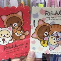 鬆弛熊日本製 貓貓防水大貼紙,全2款。