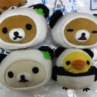 鬆弛熊9月景品 熊貓造型 公仔頭掛飾,全4款。